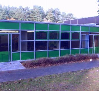 Green aluminium windows