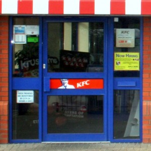Door - Shop Front-KFC, Chichester